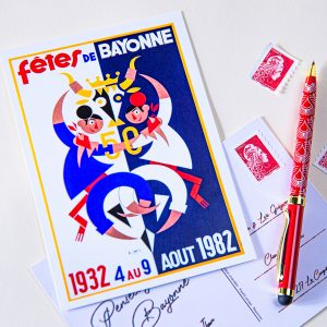 Carte postale Fêtes de Bayonne 1982