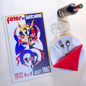1982 Set de table fêtes de Bayonne