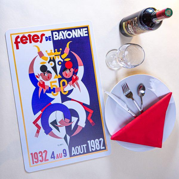 1982 Set de table fêtes de Bayonne
