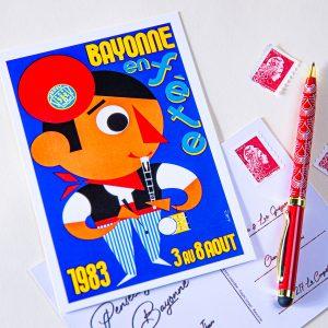 Carte postale Fêtes de Bayonne 1983