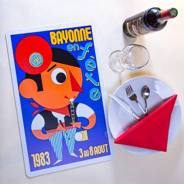 1983 Set de table fêtes de Bayonne