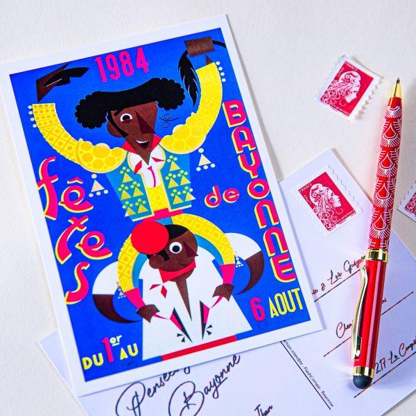 Carte postale Fêtes de Bayonne 1984