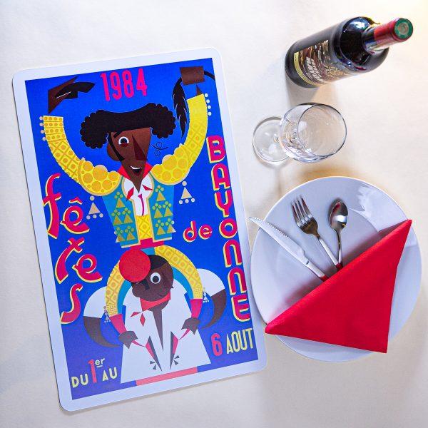 1984 Set de table fêtes de Bayonne