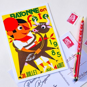 Carte postale Fêtes de Bayonne 1985