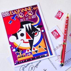 Carte postale Fêtes de Bayonne 1986