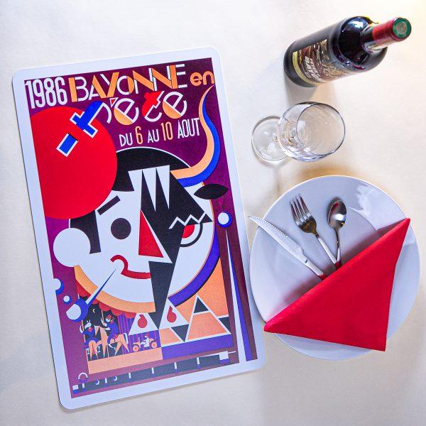 1986 Set de table fêtes de Bayonne