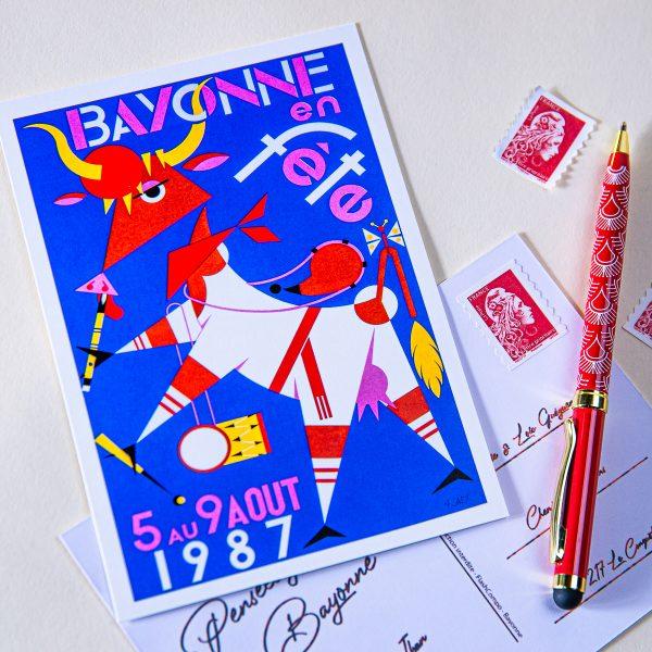 Carte postale Fêtes de Bayonne 1987