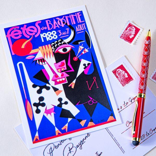 Carte postale Fêtes de Bayonne 1988
