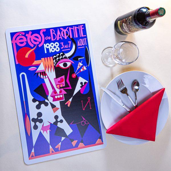 1988 Set de table fêtes de Bayonne