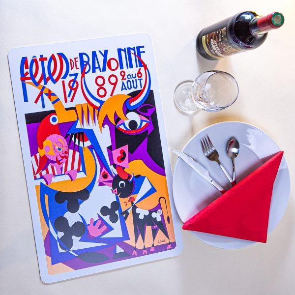 1989 Set de table fêtes de Bayonne