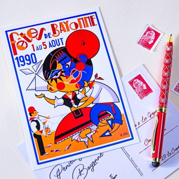 1990 carte postales des fêtes de Bayonne