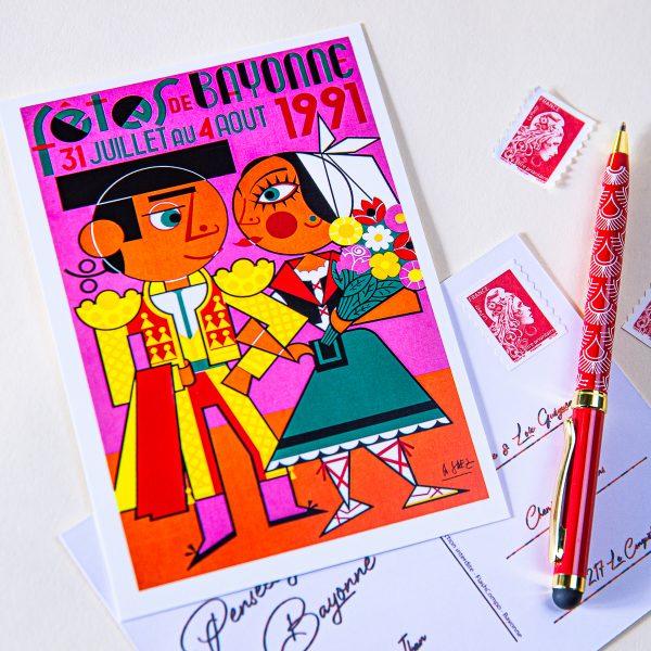 Carte postale Fêtes de Bayonne 1991