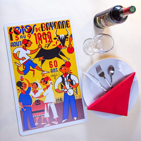 Set de table fêtes de Bayonne 1992