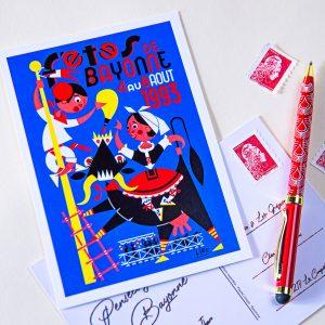 Carte postale Fêtes de Bayonne 1993