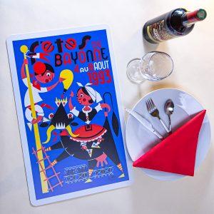 1993 Set de table fêtes de Bayonne