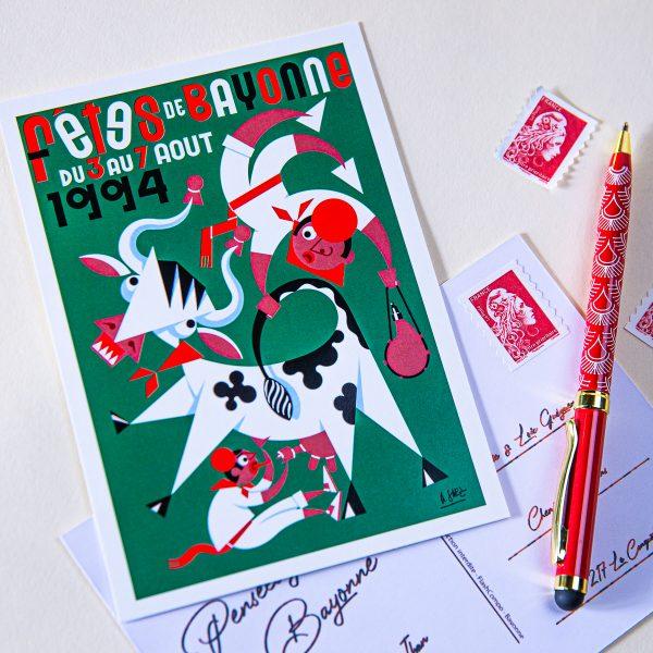Carte postale Fêtes de Bayonne 1994