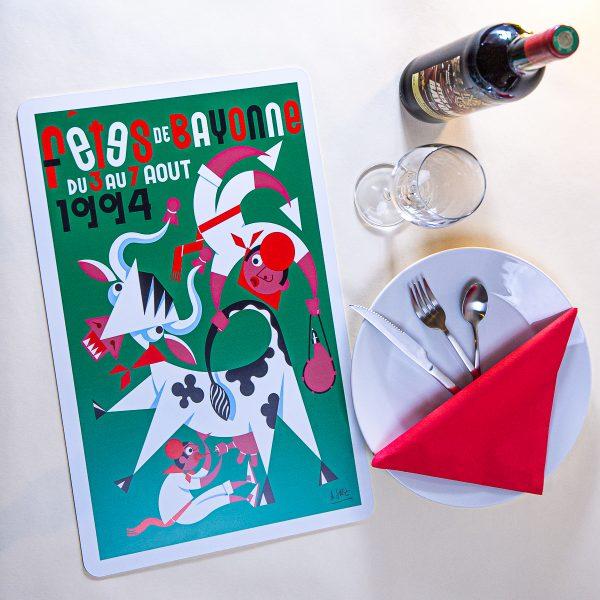 1994 Set de table fêtes de Bayonne