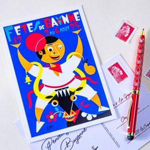 Carte postale Fêtes de Bayonne 1995