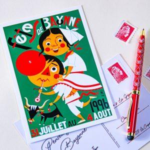 Carte postale Fêtes de Bayonne 1996