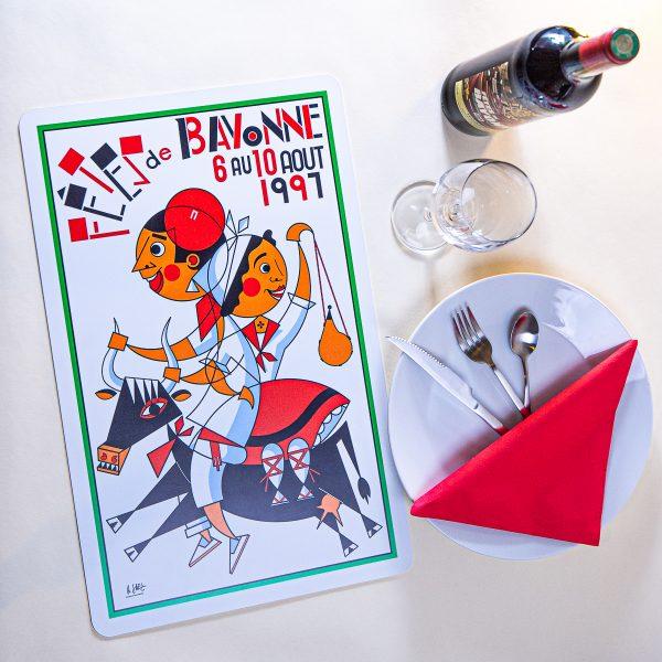 1997 Set de table fêtes de Bayonne