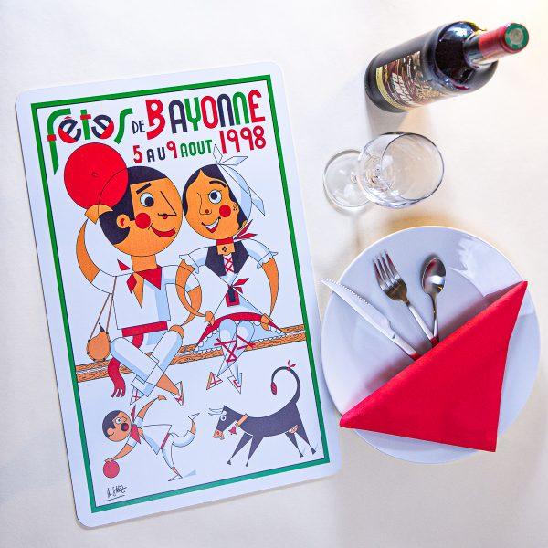 Set de table fêtes de Bayonne 1998