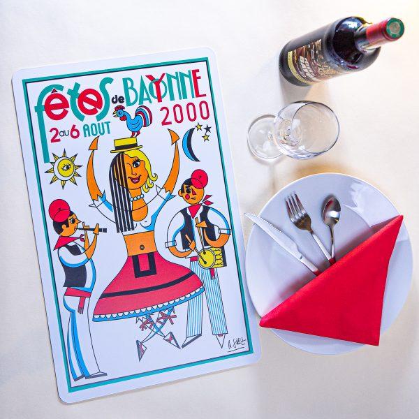 2000 Set de table fêtes de Bayonne