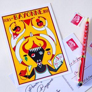 Carte postale Fêtes de Bayonne 2001