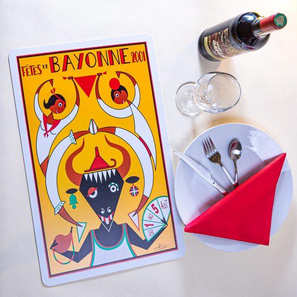 2001 Set de table fêtes de Bayonne