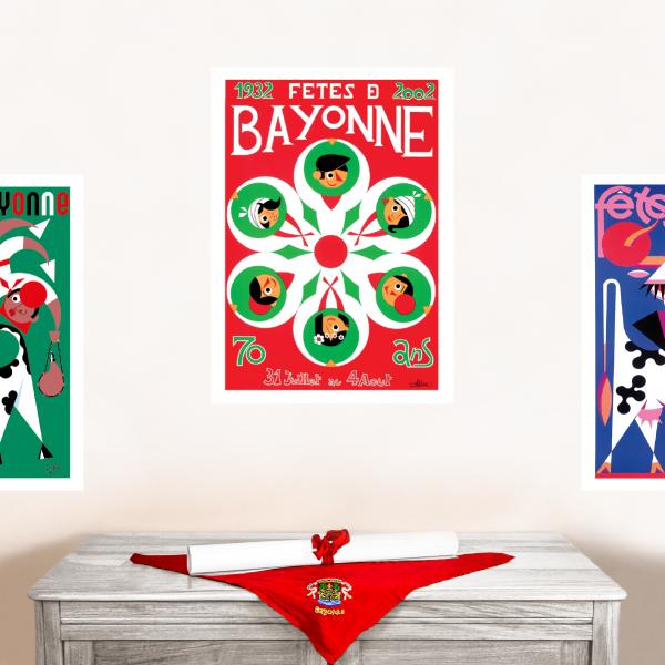 2002 affiche Fêtes de Bayonne