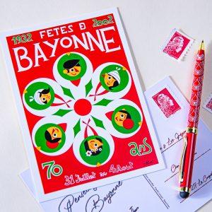 Carte postale Fêtes de Bayonne 2002