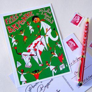 Carte postale Fêtes de Bayonne 2003