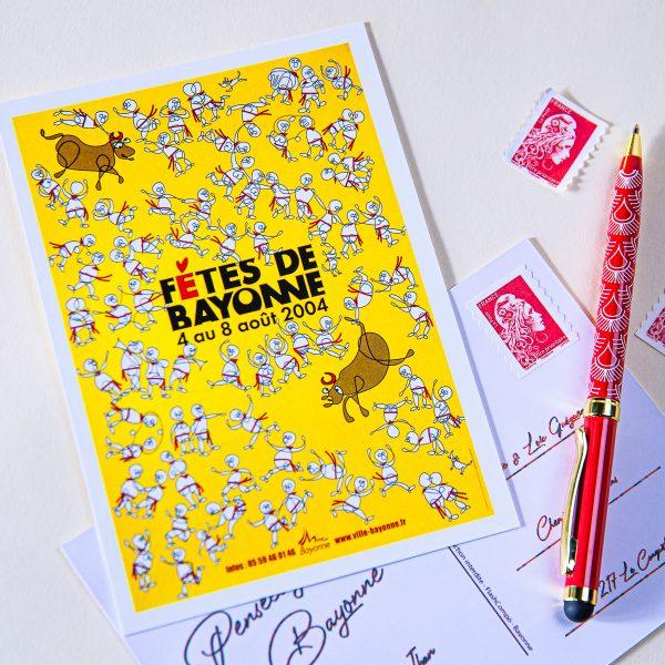 Carte postale Fêtes de Bayonne 2004