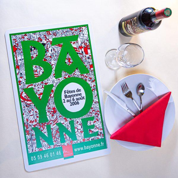 Set de table Fêtes de Bayonne 2006