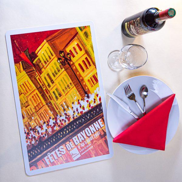 Set de table fêtes de Bayonne 2007