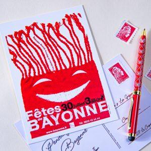 Carte postale Fêtes de Bayonne 2008