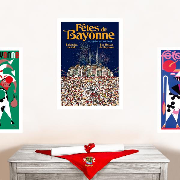 2009 affiche Fêtes de Bayonne