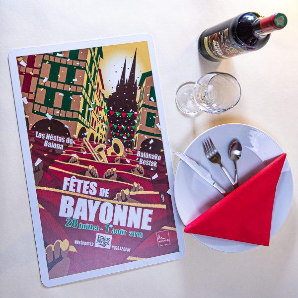 Set de table fêtes de Bayonne 2010