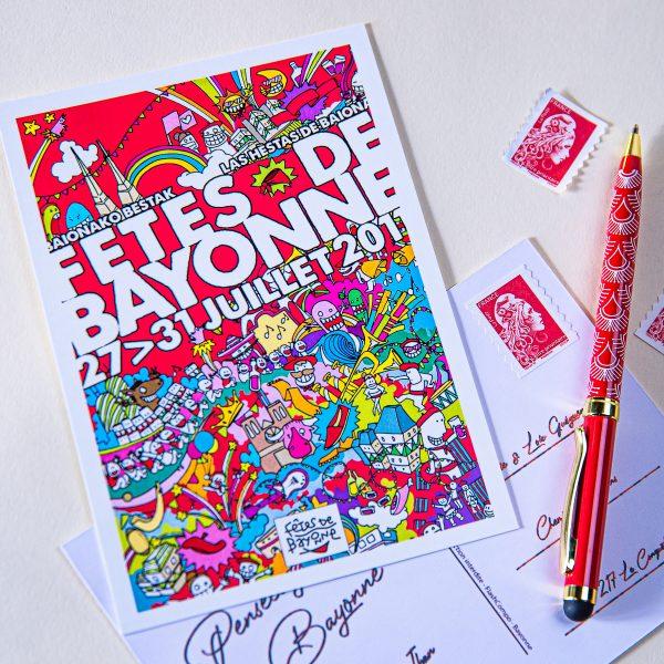2011 carte postale des fêtes de Bayonne