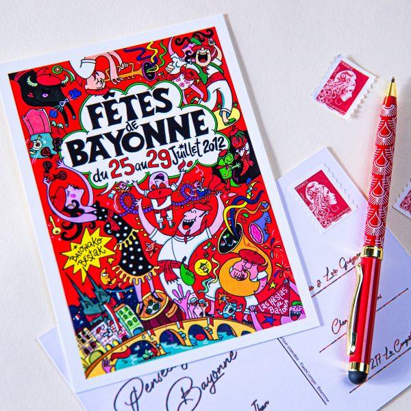 2012 carte postal fêtes de Bayonne