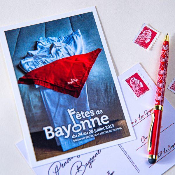 2013 carte postale des fêtes de Bayonne