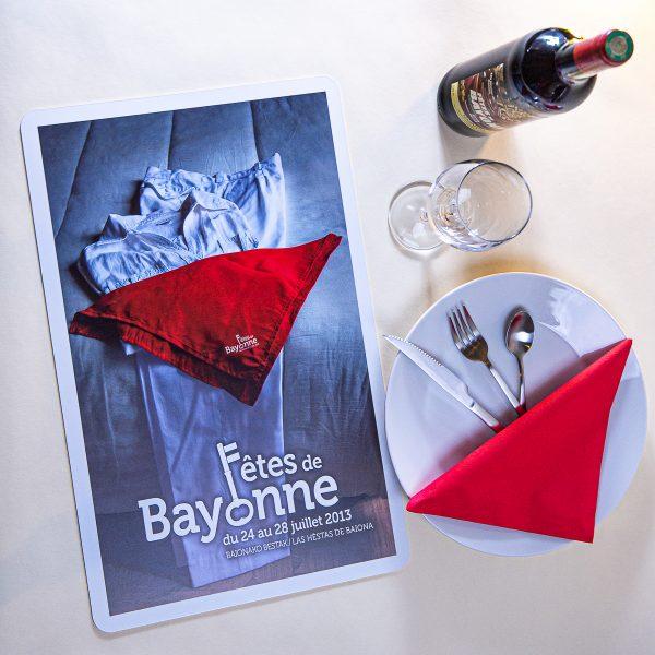 2013 Set de table fêtes ot bayonne