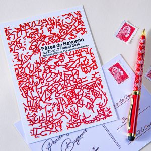 2014 carte postale fetes bayonne