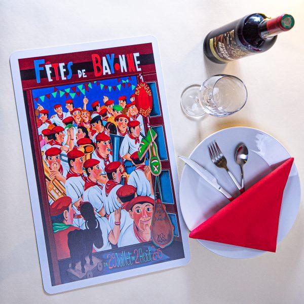 2015 Set de table fêtes ot bayonne