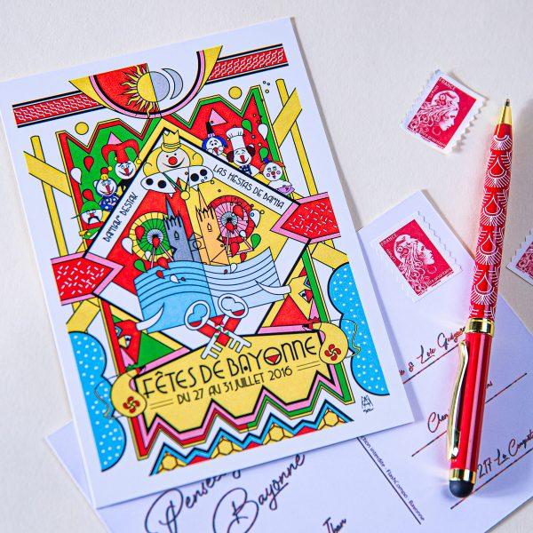 Carte postale Fêtes de Bayonne 2016