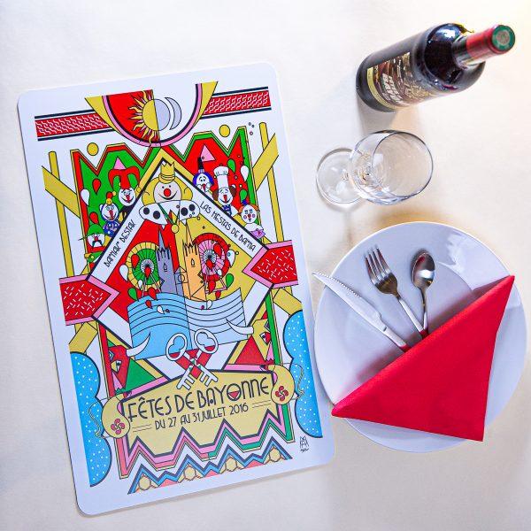 Set de table fêtes de Bayonne 2016