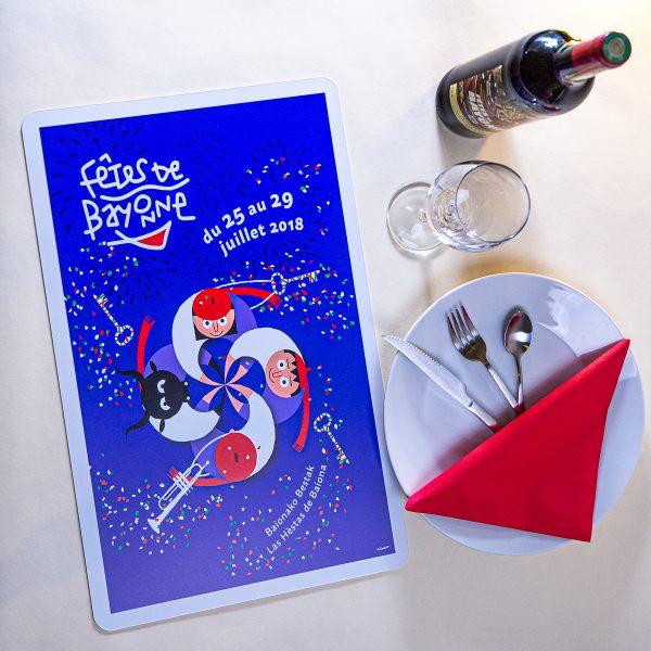 Set de table fêtes Bayonne 2018