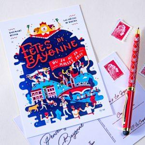 Carte postale Fêtes de Bayonne 2019