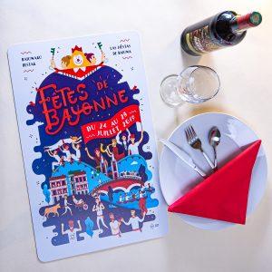 2019 Set de table fêtes ot bayonne
