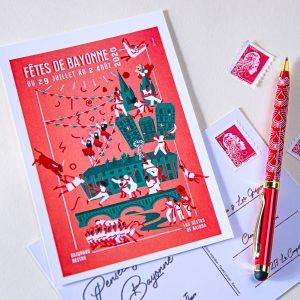 Carte postale Fêtes de Bayonne 2020