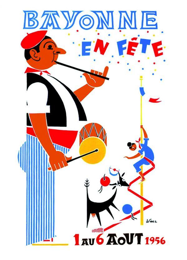 Carte postale Fêtes de Bayonne 1956